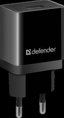 Defender Сетевой адаптер 1xUSB, 5V/1А , черный (UPA-11 ) (83547) сетевое зарядное устройство defender upa 20 1xusb 5v 2а