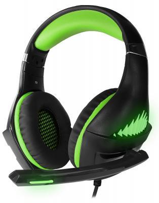 Игровая гарнитура проводная Crown CMGH-2102 черный зеленый цены онлайн