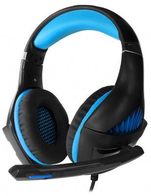 лучшая цена Игровая гарнитура проводная Crown CMGH-2001 черный синий
