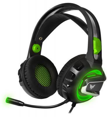 Игровая гарнитура проводная Crown CMGH-3103 черный зеленый
