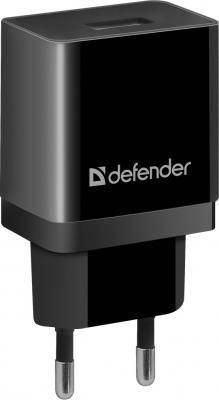 Фото - Сетевое зарядное устройство Defender UPC-11 USB 2.1A черный (83556) зарядное устройство defender upc 21 2xusb кабель microusb 83581