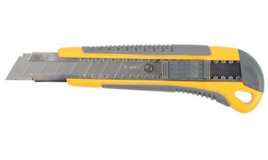"""Нож STAYER """"MASTER"""" с выдвижным сегмент. лезвием, пластмассовый, 18мм [0916]"""