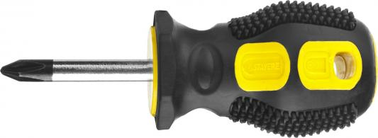 Отвертка STAYER MASTER, двухкомпонентная рукоятка, магнитный наконечник, STUBBY ( бочка ), PH2x38 мм [2510-38-2_z02] отвертка крестообразный наконечник stayer 2510 0 10 z01 master