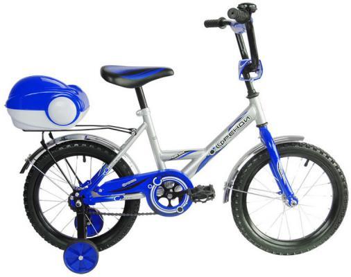 цена на Велосипед двухколёсный RT Мультяшка Френди 1601 16 синий XB1601 б/у, повреждения на сидении (надрывы) и сундуке для шлема (глубокие царапины)