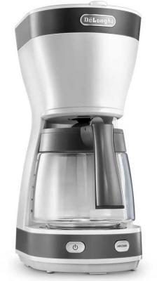 Кофеварка капельная Delonghi ICM16210.WS 600Вт белый/серебристый
