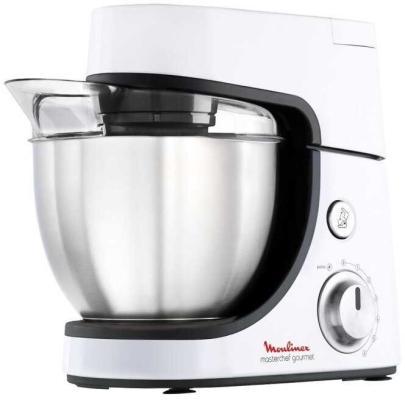Кухонный комбайн Moulinex QA51AD10 1100Вт серебристый/черный кухонный комбайн moulinex qa5001b1 900вт белый