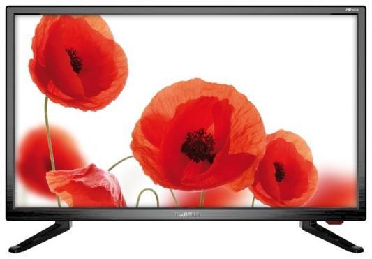 "Телевизор LED Telefunken 23.6"" TF-LED24S74T2 черный/HD READY/50Hz/DVB-T/DVB-T2/DVB-C/USB (RUS) цена 2017"