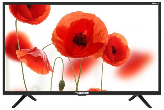 "Телевизор LED Telefunken 31.5"" TF-LED32S24T2 черный/HD READY/50Hz/DVB-T/DVB-T2/DVB-C/USB (RUS) цена 2017"