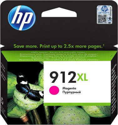 Картридж струйный HP 912 3YL82AE пурпурный (825стр.) для HP OfficeJet 801x/802x картридж струйный hp c9391ae n 88xl cyan with vivera ink