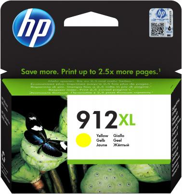 Картридж струйный HP 912 3YL83AE желтый (825стр.) для HP DJ IA картридж струйный hp c9391ae n 88xl cyan with vivera ink