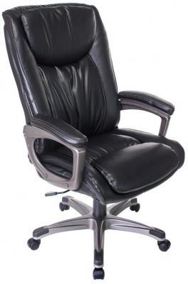 Кресло руководителя Бюрократ T-9914/BLACK черный рец.кожа/кожзам цена