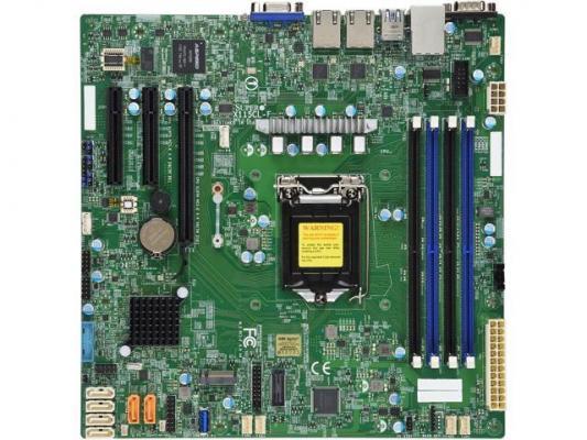 Материнская плата Supermicro MBD-X11SCL-F-O Socket 1151 v2 C232 4xDDR4 1xPCI-E 4x 2xPCI-E 8x 6 mATX Retail материнская плата supermicro mbd x10sle f p socket 1150 c224 4xddr3 1xpci e 8x 4xsataiii нестандартный
