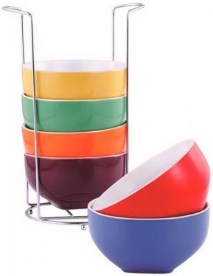 Набор салатников Wellberg WB-24211 б/у, в комплекте нет оранжевой чаши кастрюля wellberg wb 3106 basic 20 см 2 7 л металл 4 декора