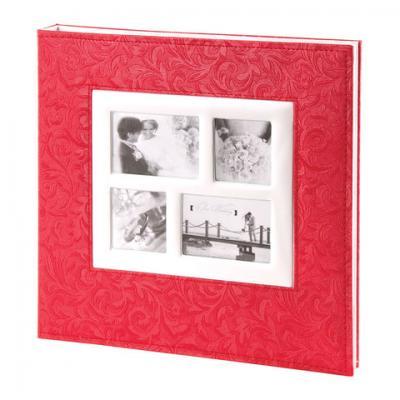 Фотоальбом BRAUBERG свадебный, 20 магнитных листов 30х32 см, под фактурную кожу, коралловый