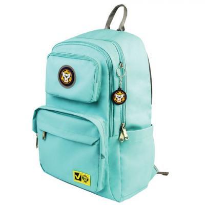 Рюкзак BRAUBERG молодежный, Лайт, мятный цвет, 45х30х12 см, 227077