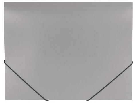 Папка на резинках BRAUBERG Office, серая, до 300 листов, 500 мкм, 228079