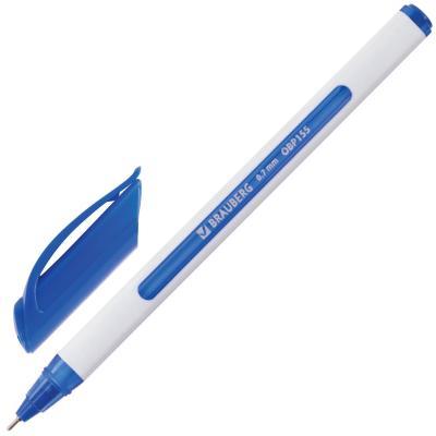 Шариковая ручка масляная BRAUBERG Extra Glide Soft White синий 0.35 мм шариковая ручка автоматическая brauberg extra glide r grip grey синий 0 35 мм obpr164