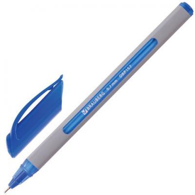 Ручка шариковая масляная шариковая BRAUBERG Extra Glide Soft Grey синий 0.35 мм шариковая ручка автоматическая brauberg extra glide r grip grey синий 0 35 мм obpr164