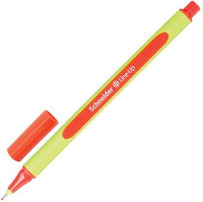 """Ручка капиллярная SCHNEIDER (Германия) """"Line-Up"""", ОРАНЖЕВАЯ, трехгранная, линия письма 0,4 мм, 191006"""