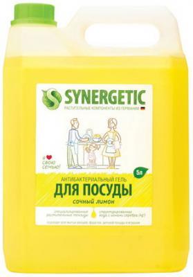 цена на Средство для мытья посуды 5 л SYNERGETIC Лимон, антибактериальное, 103500