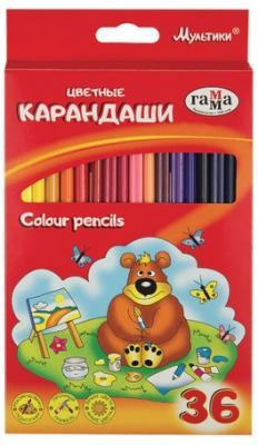 Набор цветных карандашей Гамма Мультики 36 шт 174 мм