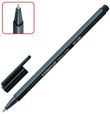"""Ручка-роллер STAEDTLER (Германия) """"Triplus Roller"""", ЧЕРНАЯ, трехгранная, узел 0,7 мм, линия письма 0,4 мм, 403-9 cloud nine роллер roller 60 мм 4 штуки"""