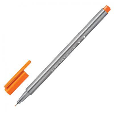 Ручка капиллярная STAEDTLER Triplus Fineliner, ОРАНЖЕВАЯ, трехгранная, линия письма 0,3 мм, 334-4 капиллярная ручка капилярный staedtler triplus fineliner салатовый 0 3 мм