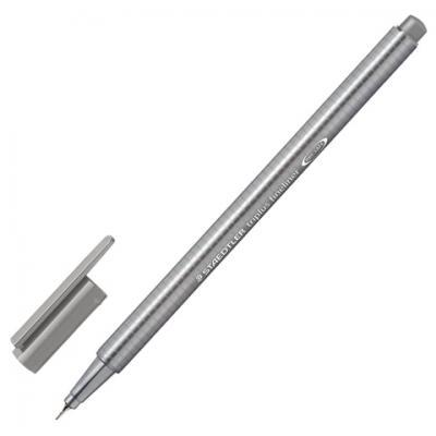 Ручка капиллярная STAEDTLER Triplus Fineliner, СЕРАЯ, трехгранная, линия письма 0,3 мм, 334-8 капиллярная ручка капилярный staedtler triplus fineliner салатовый 0 3 мм