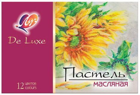 Фото - Пастель масляная художественная ЛУЧ Люкс, 12 цветов, трехгранное сечение, 28С 1674-08 набор для творчества луч пластилиновая мозаика рыбки 28с 1654 08