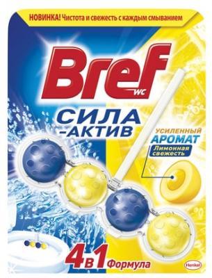 Освежитель для туалета BREF Лимонная свежесть лимон 50 г блок bref сила актив лимонная свежесть для туалета