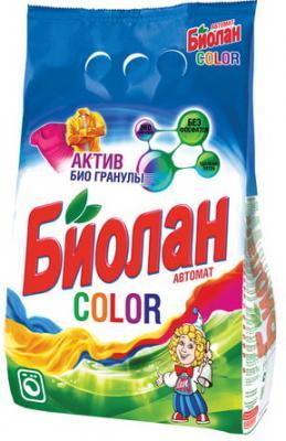Стиральный порошок-автомат 6 кг, БИОЛАН Color (Нэфис Косметикс), 714-4, 108-4 стиральный порошок dosia автомат color 8 4 кг