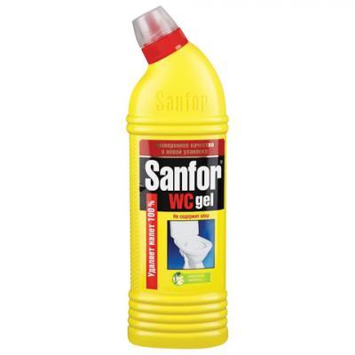 """Средство для уборки туалета 1 кг, SANFOR WC gel (Санфор гель) """"Лимонный фреш"""", 1954 стоимость"""