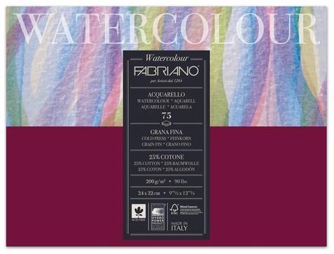 Фото - Альбом для акварели FABRIANO Watercolour Studio А4+ 75 листов альбом для акварели fabriano watercolour 300 г м2 а6 10 5 х 14 8 см склейка с одной стороны 20 л