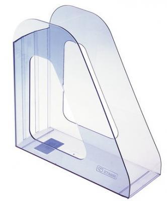 """Лоток вертикальный для бумаг СТАММ """"Фаворит"""", ширина 90 мм, тонированный голубой, ЛТ702"""