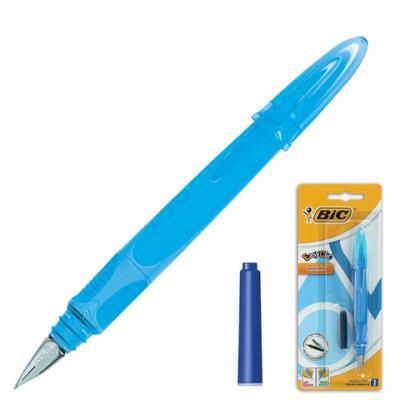 Фото - Ручка перьевая перьевая BIC EasyClic синий 0.5 мм ручка перьевая 029 al star пурпурная 0 5 мм