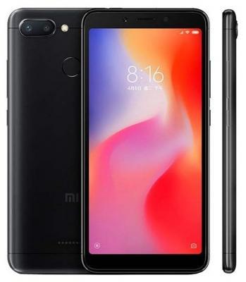 Смартфон Xiaomi Redmi 6 64 Гб черный (19854) смартфон xiaomi redmi 6 64 гб синий