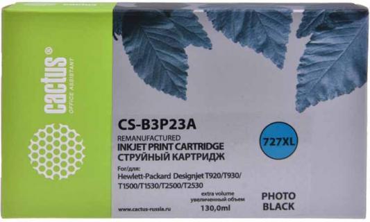 Фото - Картридж струйный Cactus №727 CS-B3P23A фото черный (130мл) для HP DJ T920/T1500 фото
