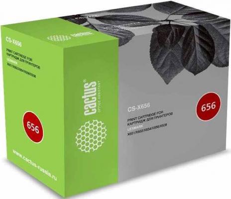 купить Тонер Картридж Cactus CS-X656 X651H21E черный (25000стр.) для Lexmark X651/X652/X654/X656/X658 дешево