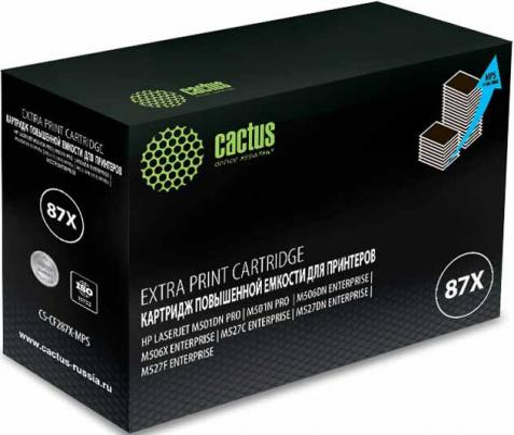 Фото - Тонер Картридж Cactus CS-CF287X-MPS черный (24000стр.) для HP LJ M506dn/M506n/M506x тонер картридж cactus cs cf280x mps черный 13000стр для hp lj pro 400 m401 m425