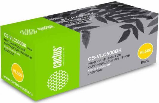 Фото - Тонер Картридж Cactus CS-VLC500BK 106R03880 черный (5000стр.) для Xerox VersaLink C500/C505 тонер картридж cactus cs vlc500y 106r03879 желтый 2400стр для xerox versalink c500 c505