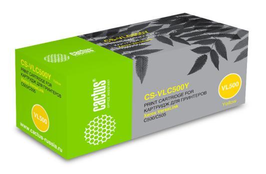 Фото - Тонер Картридж Cactus CS-VLC500Y 106R03879 желтый (2400стр.) для Xerox VersaLink C500/C505 тонер картридж cactus cs vlc500y 106r03879 желтый 2400стр для xerox versalink c500 c505