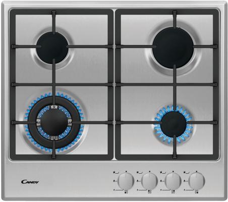 Газ, 59х51х3 см, Газ-контроль. Автоматический электроподжиг, чугунные решетки, нерж.сталь