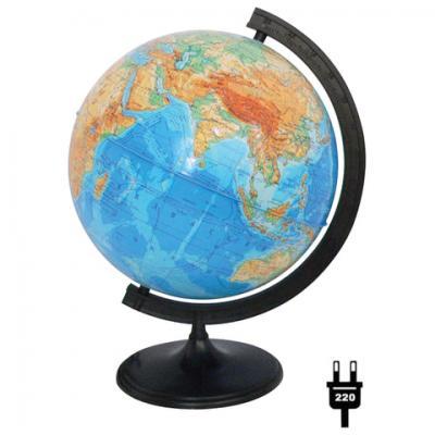 Фото - Глобус физический, диаметр 320 мм, с подсветкой, 10014 глобус физический глобусный мир 250 мм 10160 бирюзовый
