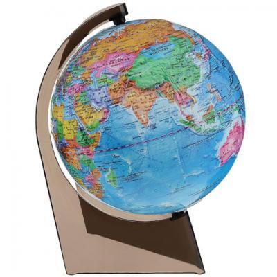 Глобус политический, диаметр 210 мм, рельефный, 10279 глобусный мир глобус с физической картой рельефный диаметр 25 см на деревянной подставке
