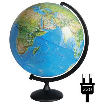 Фото - Глобус физический/политический диаметр 420 мм, с подсветкой, 10355 глобус физический глобусный мир 250 мм 10160 бирюзовый