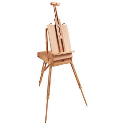 Купить Этюдник BRAUBERG ART CLASSIC, бук, 50х34х11 см, высота холста 87 см, ножки деревянные 90 см, ремень, 190654, Прочие краски
