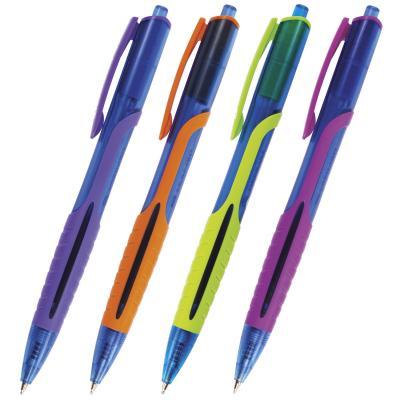 Шариковая ручка автоматическая BRAUBERG Phantom color синий 0.35 мм OBPR204 шариковая ручка автоматическая brauberg phantom color синий 0 35 мм obpr204