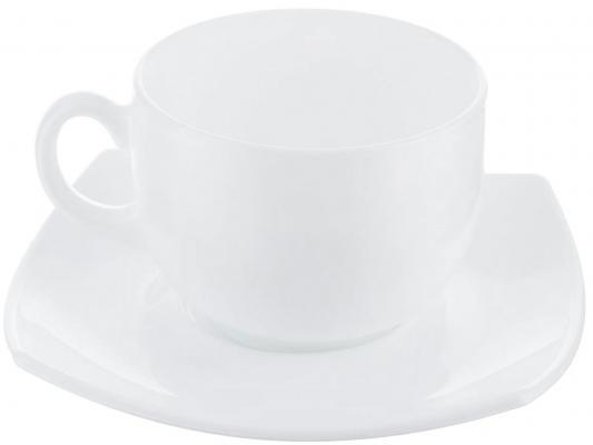 Набор чайный LUMINARC Quadrato white 220 мл E8865 чайный набор luminarc essence 220 мл 12 предметов