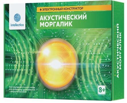 Электронный конструктор INTELLECTICO Акустический моргалик