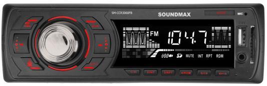 Автомагнитола Soundmax SM-CCR3060FB 1DIN 4x45Вт автомагнитола soundmax sm ccr3058f отзывы